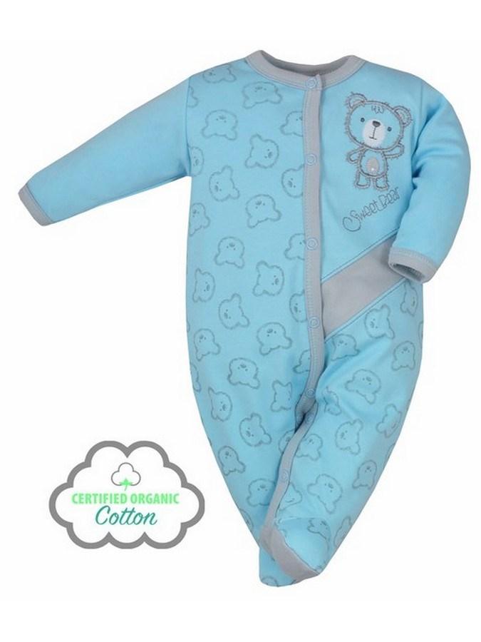 Dojčenský BIO overal Koala Malí Mackovia modrý