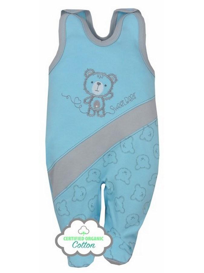 Dojčenské BIO dupačky Koala Malí Mackovia modré