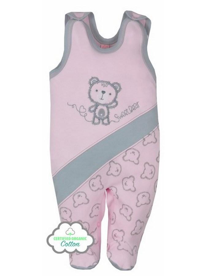 Dojčenské BIO dupačky Koala Malí Mackovia ružové