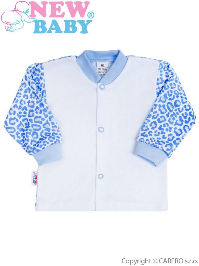 Dojčenský kabátik New Baby Leopardík modrý