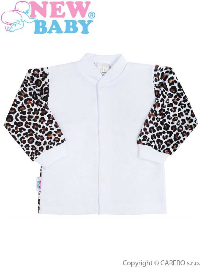 Dojčenský kabátik New Baby Leopardík hnedý