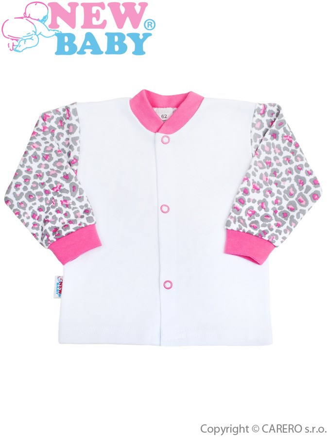 Dojčenský kabátik New Baby Leopardík ružový