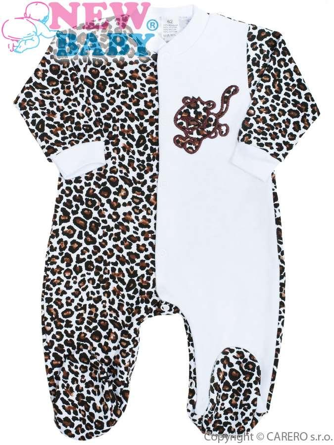 Dojčenský overal New Baby Leopardík hnedý