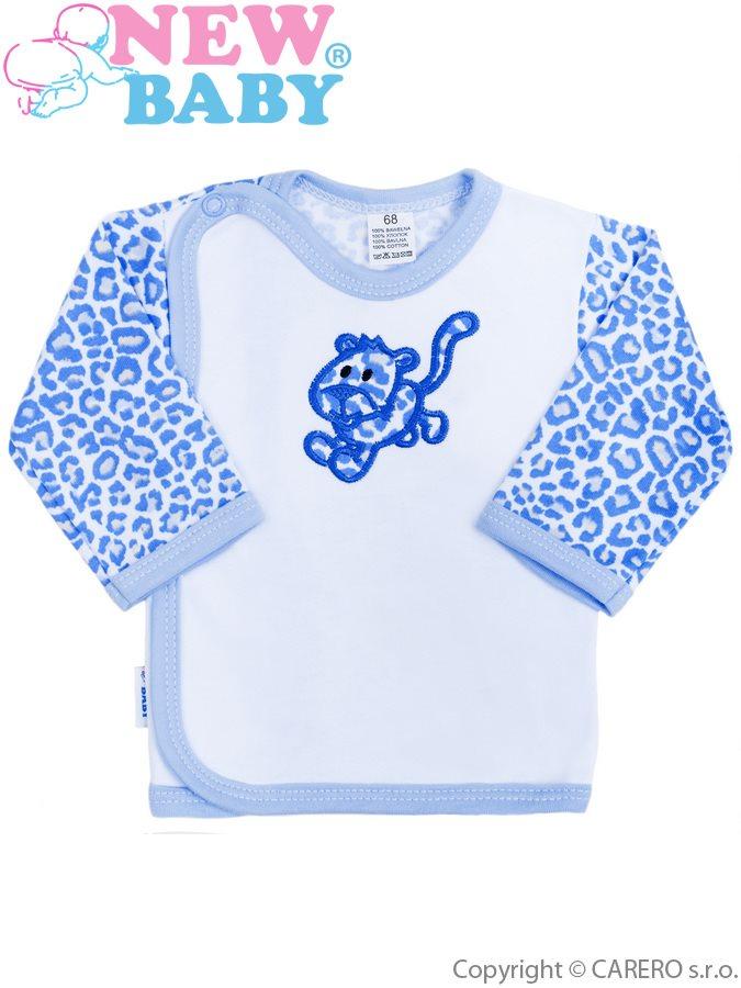 Dojčenská košieľka New Baby Leopardík modrá