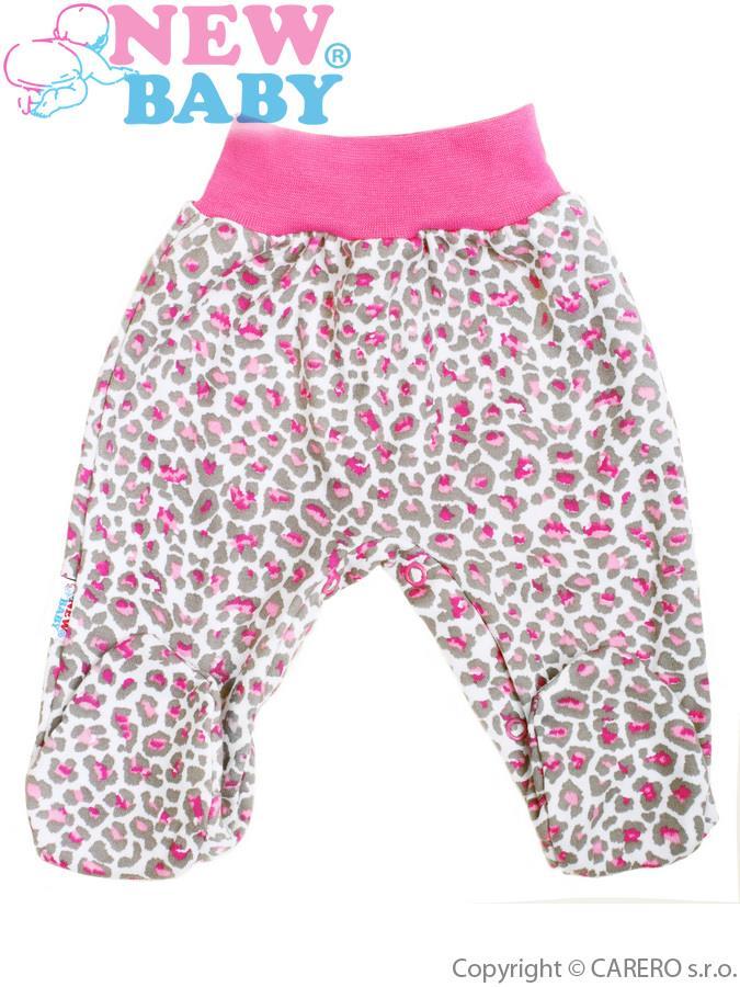 Dojčenské polodupačky New Baby Leopardík ružové
