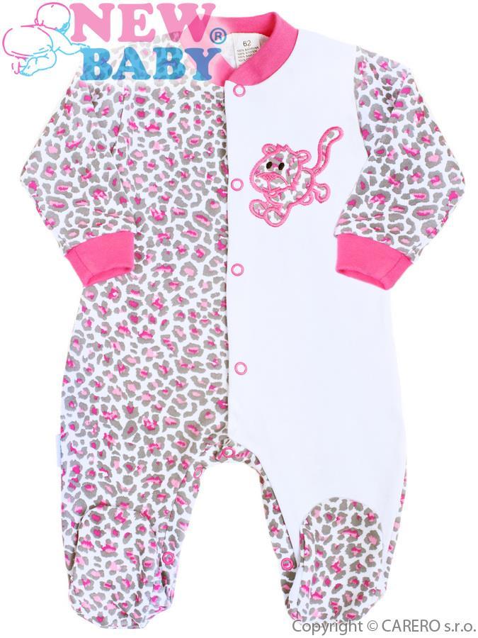 Dojčenský overal New Baby Leopardík ružový