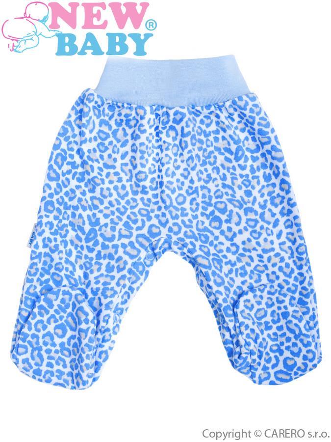 Dojčenské polodupačky New Baby Leopardík modré