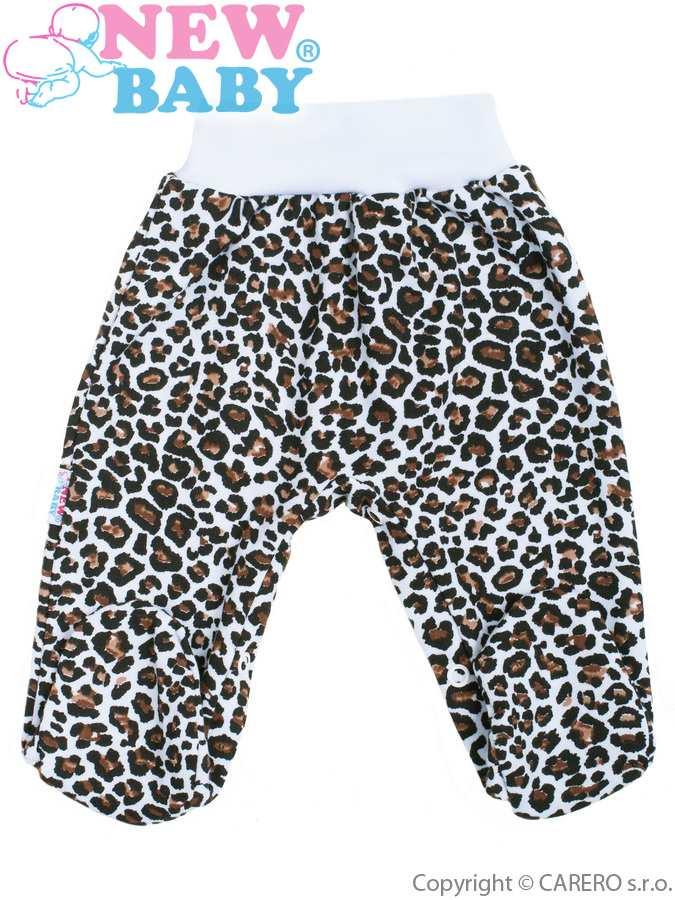 Dojčenské polodupačky New Baby Leopardík hnedé