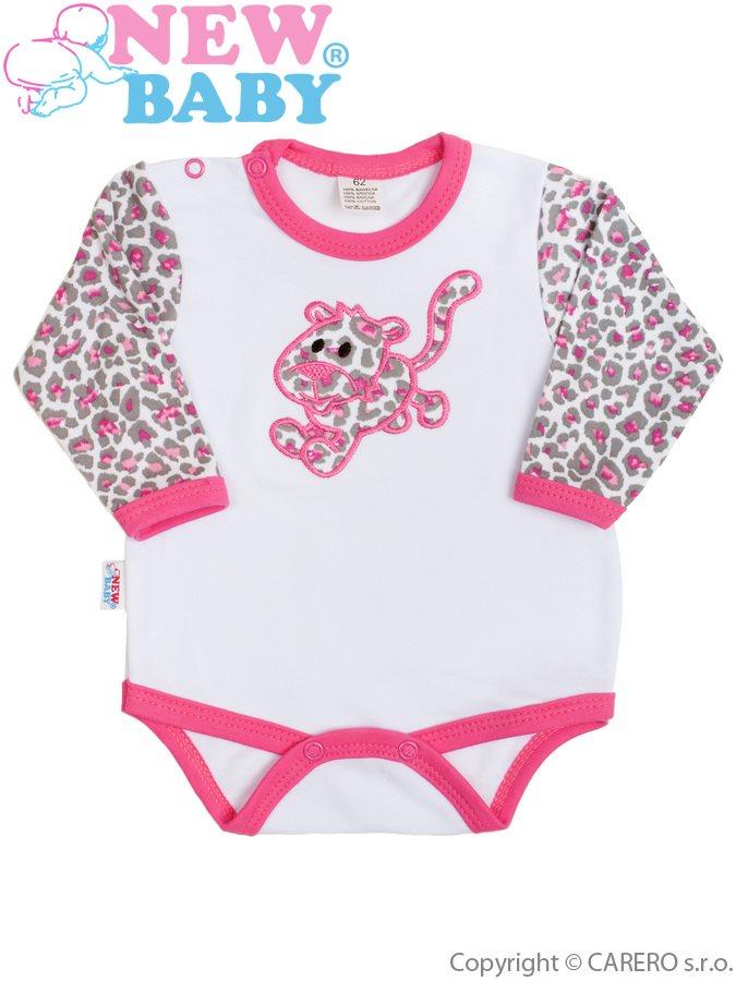 Dojčenské body New Baby Leopardík ružové