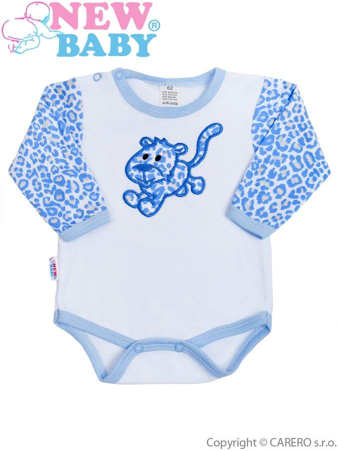 Dojčenské body New Baby Leopardík modré