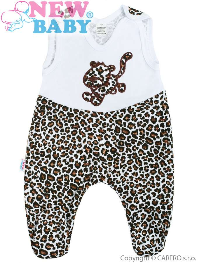 Dojčenské dupačky New Baby Leopardík hnedé
