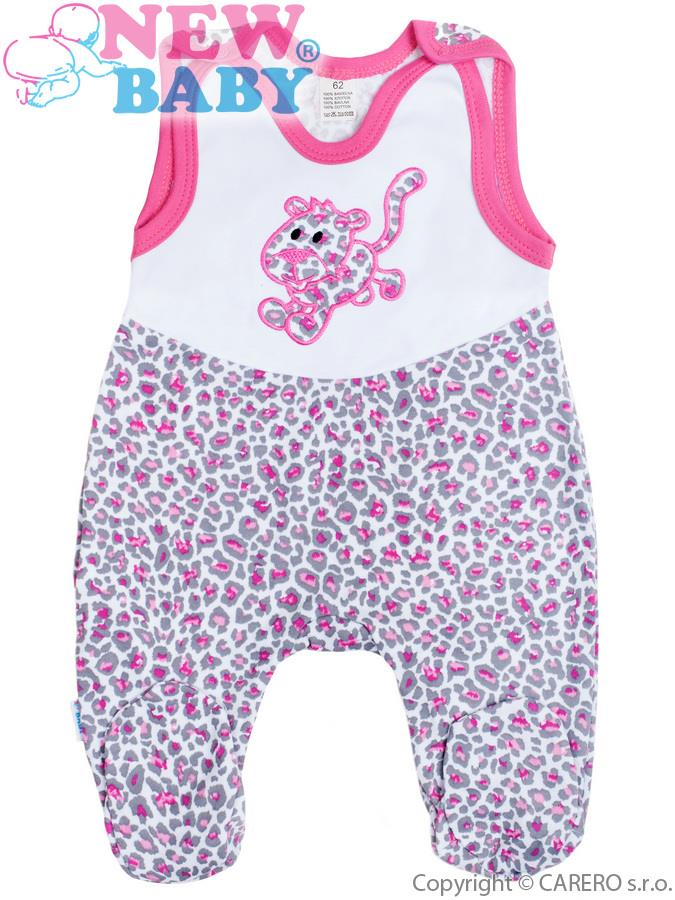 Dojčenské dupačky New Baby Leopardík ružové