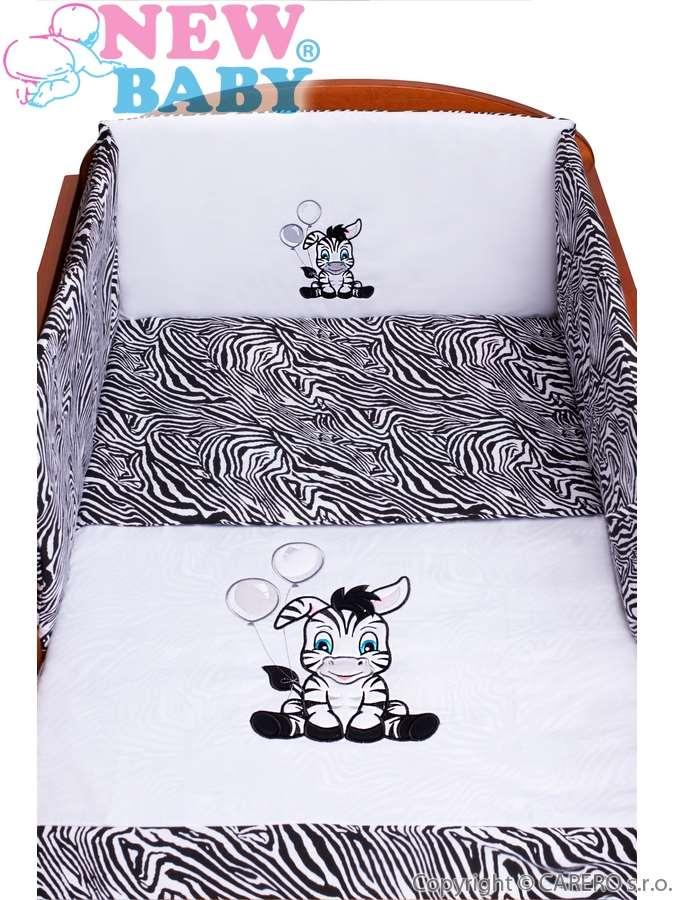 5-dielne posteľné obliečky New Baby Zebra 90/120 bielo-čierne
