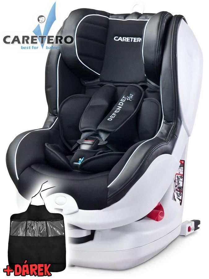 Autosedačka CARETERO Defender Plus Isofix black 2016 + darček