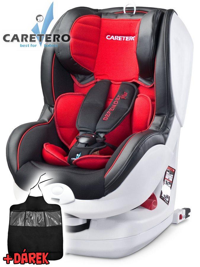 Autosedačka CARETERO Defender Plus Isofix red 2016 + darček