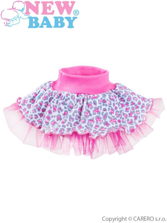Dojčenská suknička s tylovou spodničkou New Baby Leopardík ružová