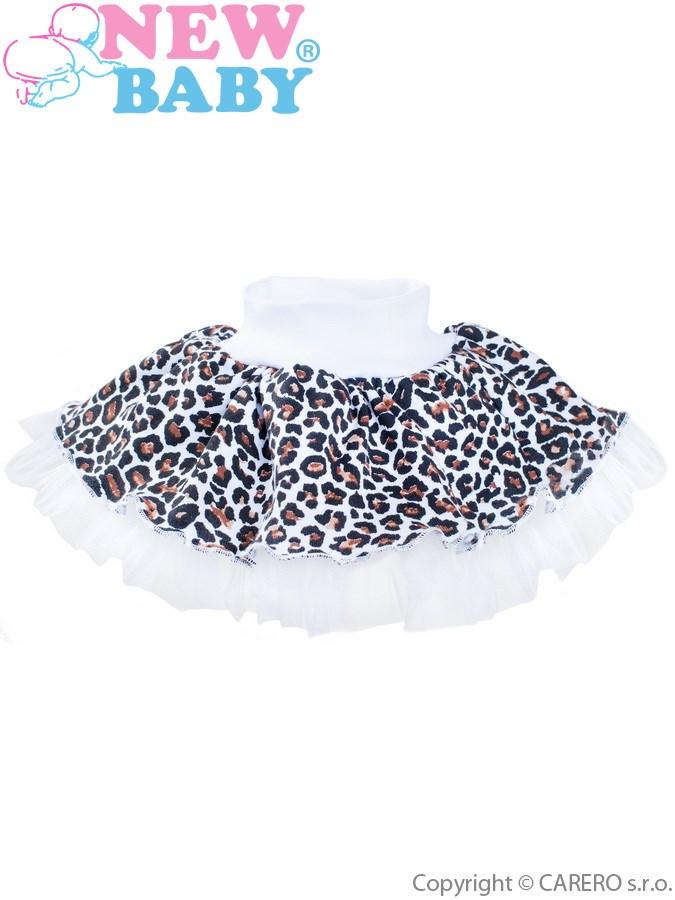 Dojčenská suknička s tylovou spodničkou New Baby Leopardík hnedá