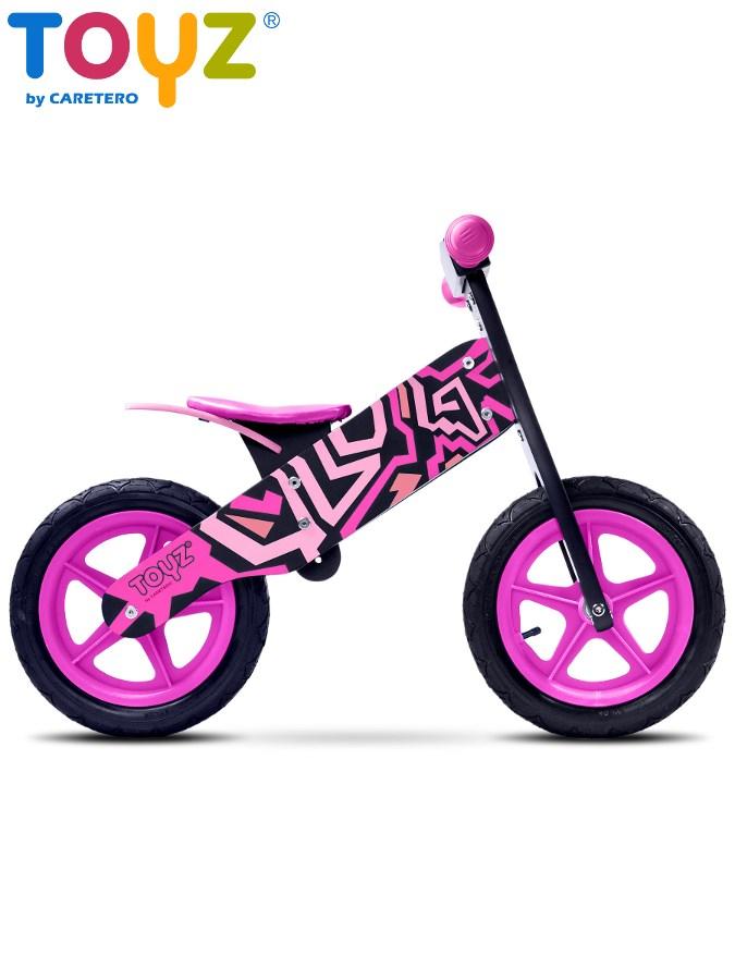 Detské odrážadlo kolo Toyz Zap black-pink