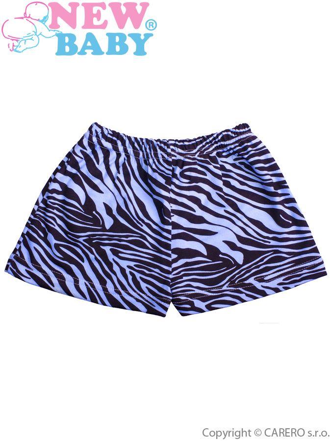Detské kraťasy New Baby Zebra modré