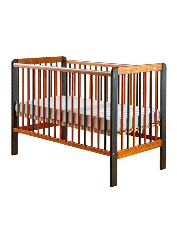 Detská postieľka Drewex Tygřík oranžovo-sivá