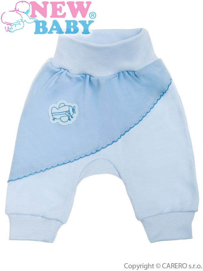 Dojčenské tepláčiky New Baby Clouds modré