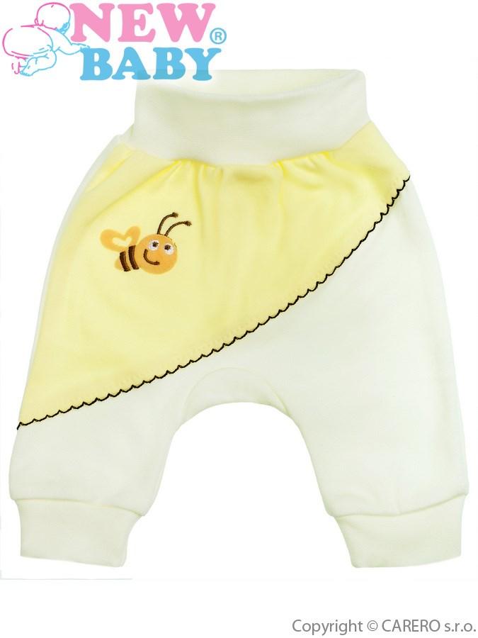 Dojčenské tepláčiky New Baby Clouds žlté