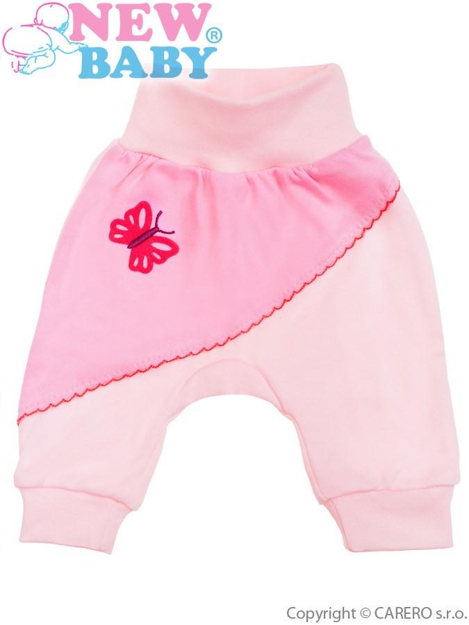 Dojčenské tepláčiky New Baby Clouds ružové