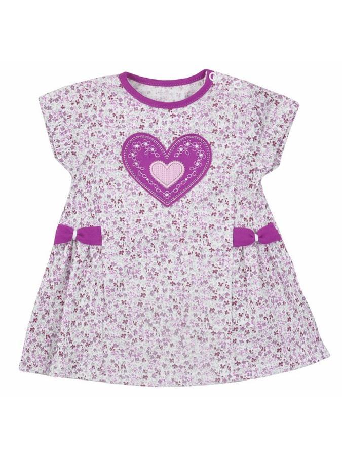 Detské letné šatôčky Bobas Fashion So Srdiečkom fialové