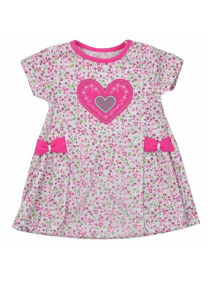Detské letné šatôčky Bobas Fashion So Srdiečkom ružové