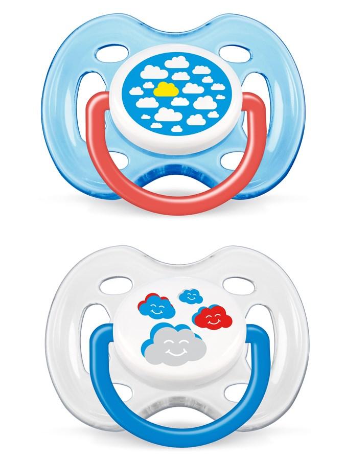 Dojčenský cumlík Avent 0-6 mesiacov - 2 ks obláčiky