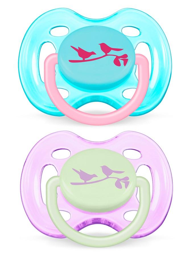 Dojčenský cumlík Avent 0-6 mesiacov - 2 ks vtáčiky