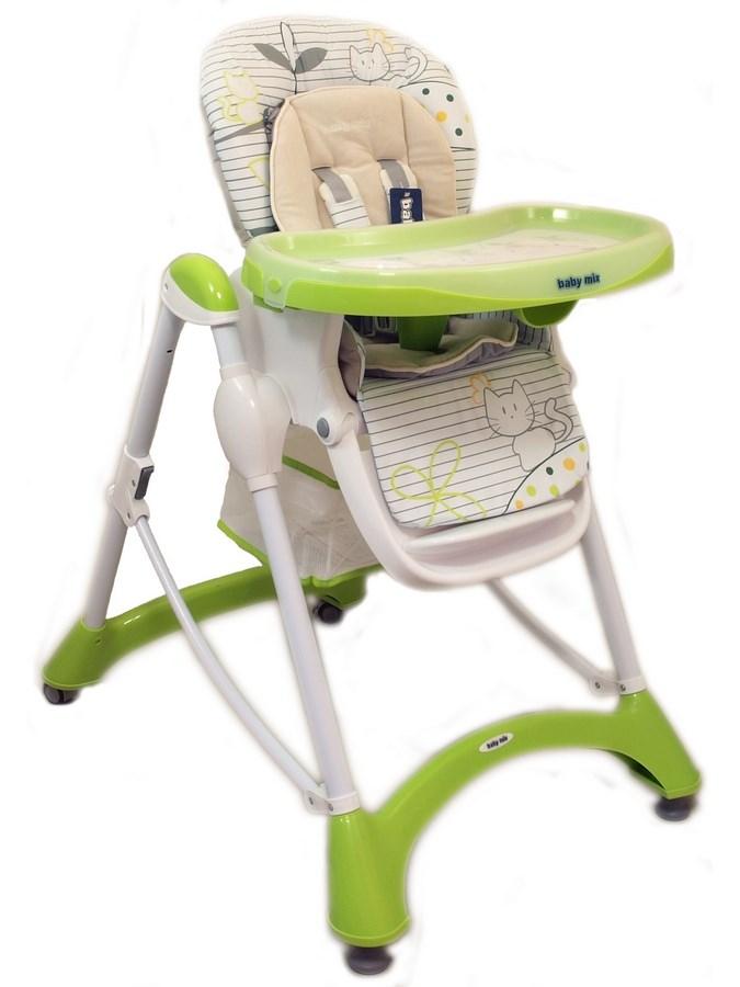 Jedálenská stolička Baby Mix green