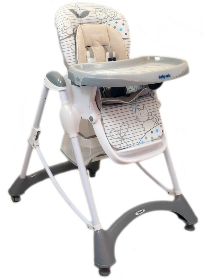 Jedálenská stolička Baby Mix grey