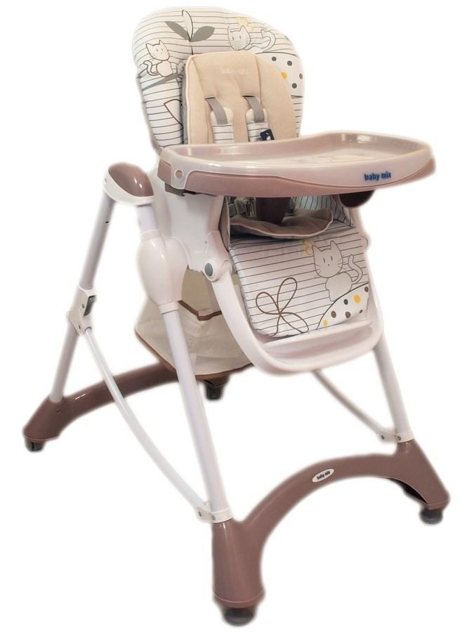 Jedálenská stolička Baby Mix latte