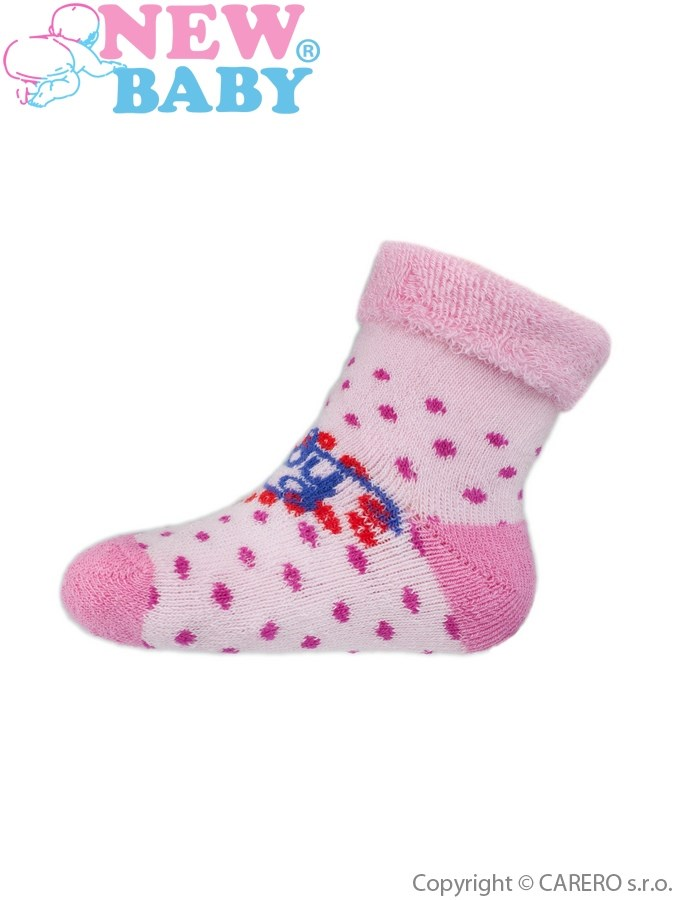 Dojčenské froté ponožky New Baby ružové lady