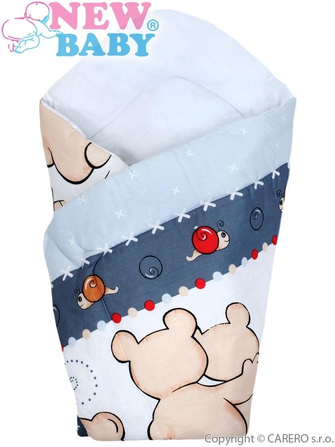 Detská zavinovačka New Baby sivá s medvedíkom
