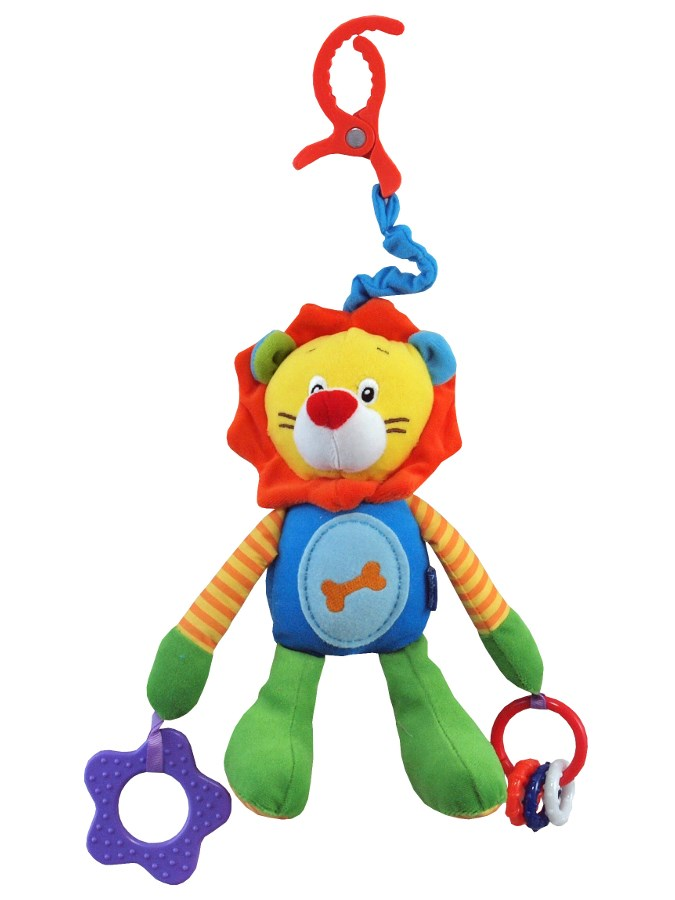 Detská plyšová hračka s hrkálkou Baby Mix levík