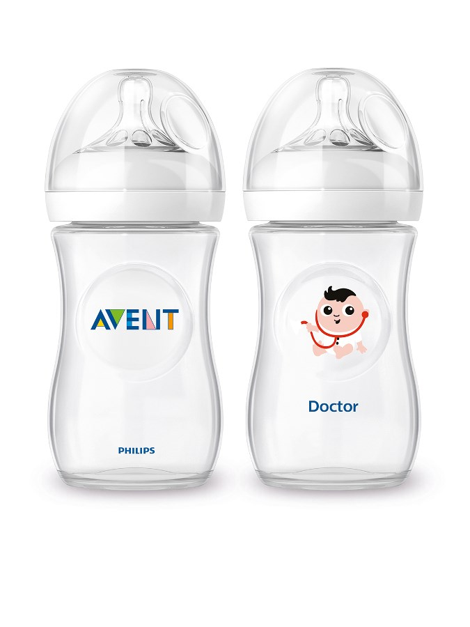 Dojčenská fľaša Avent Natural + fľaša Čím budem Doctor 260ml