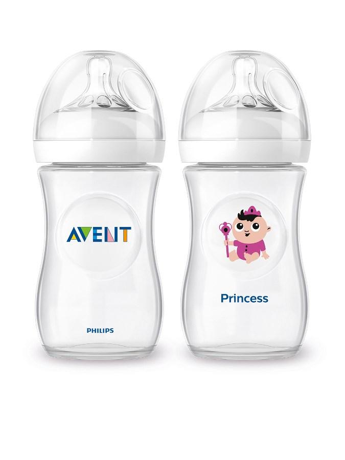 Dojčenská fľaša Avent Natural + fľaša Čím budem Princess 260ml