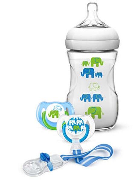 Dojčenská sada Avent Natural  transparentná 260 ml chlapci