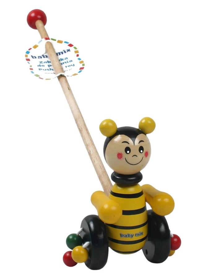 Drevená jazdiacia hračka Baby Mix včielka
