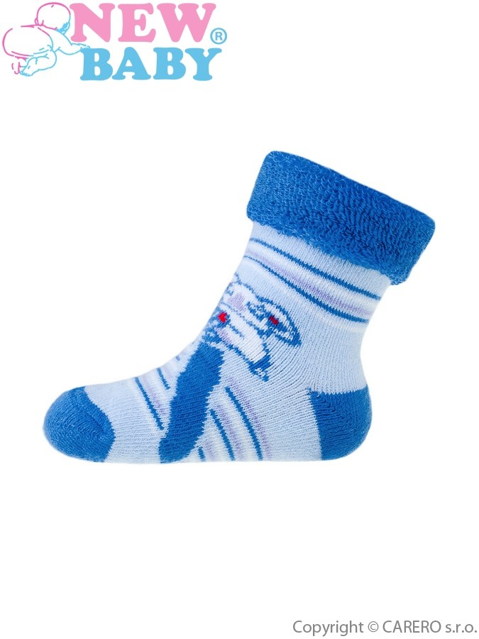 Dojčenské froté ponožky New Baby modré koala
