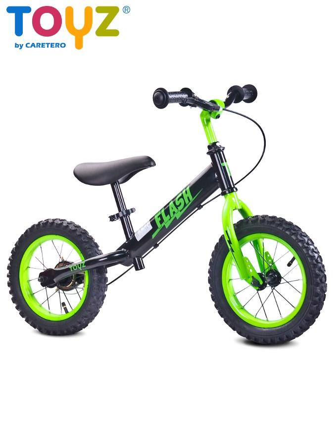 Detské odrážadlo bicykel Toyz Flash black-green