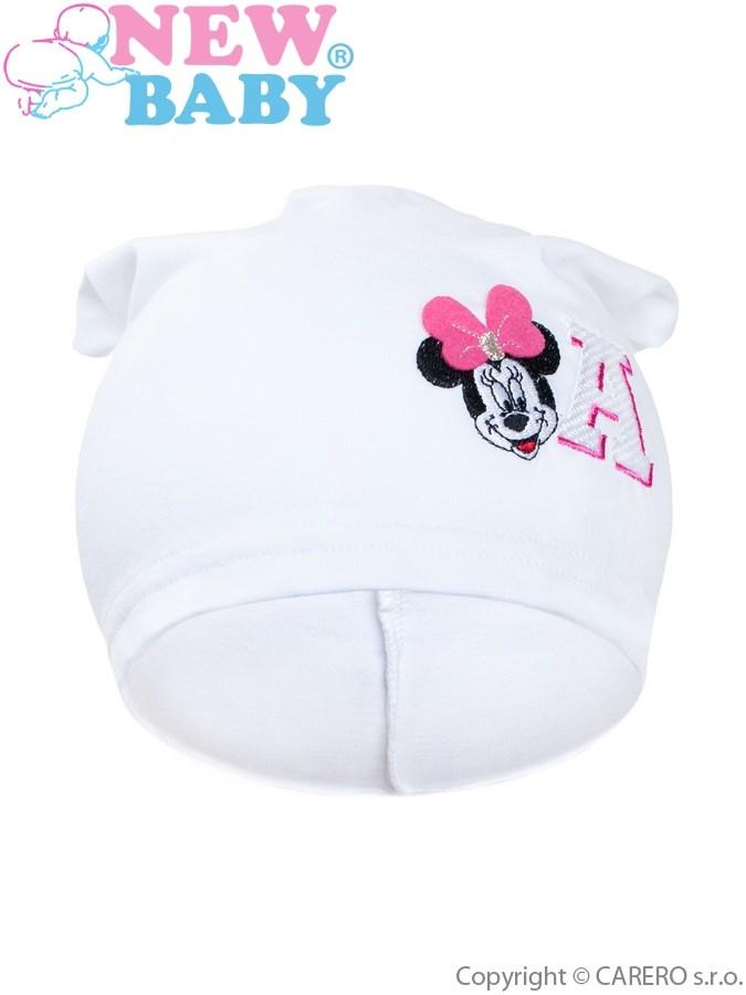 Jesenná detská čiapočka New Baby Minnie biela