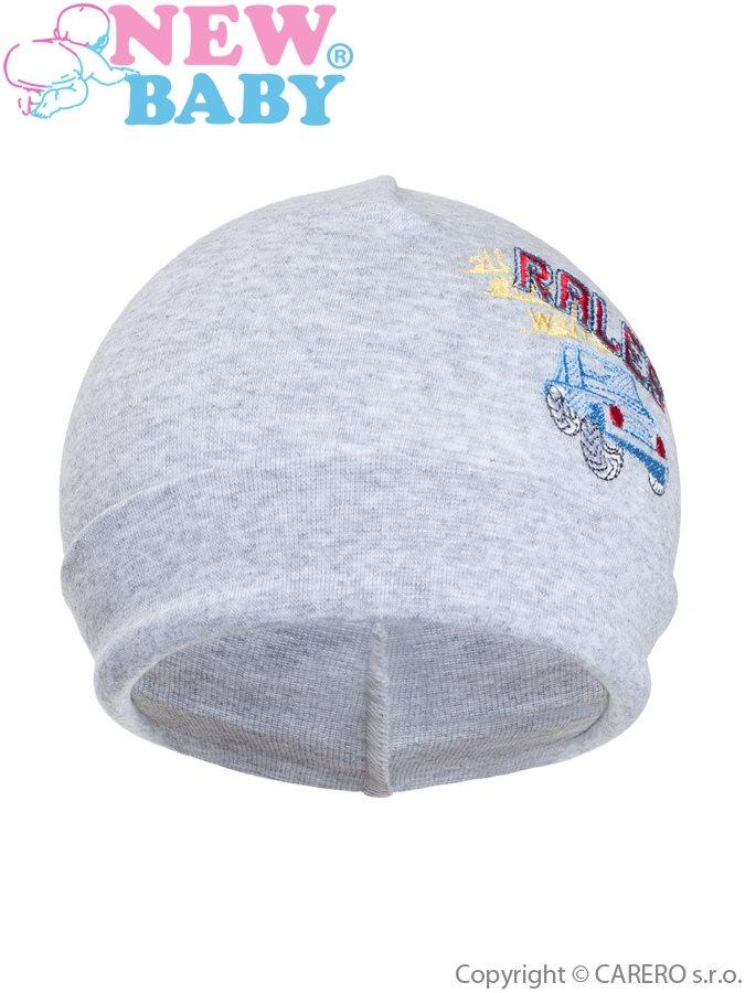 Jesenná detská čiapočka New Baby Rales sivá