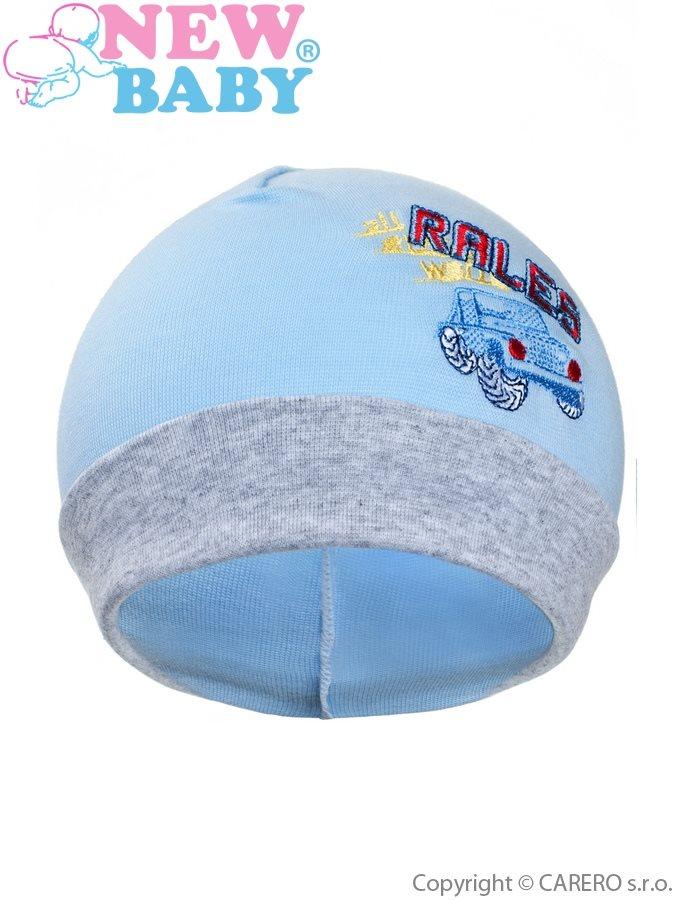 Jesenná detská čiapočka New Baby Rales bledo modrá