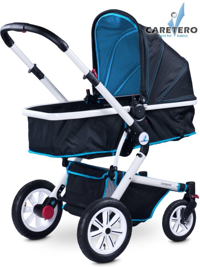 Detský kočík 2v1 CARETERO Compass blue