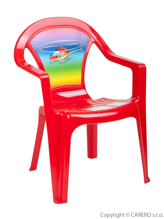 Detský záhradný nábytok - Plastová stolička červená