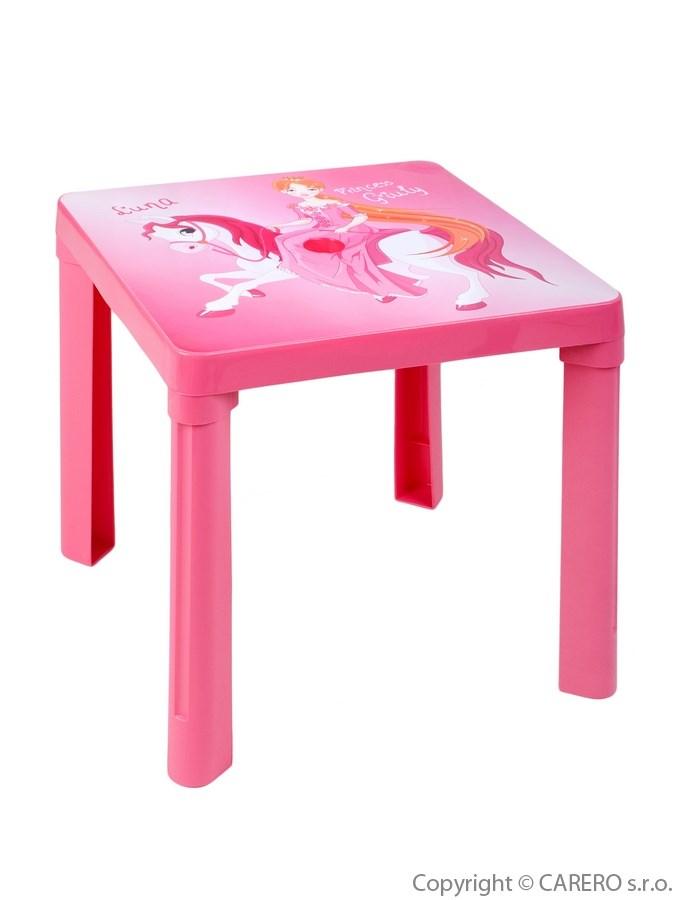 Detský záhradný nábytok - Plastový stôl ružový