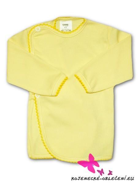 Dojčenská košieľka prúžkovaná New Baby žltá